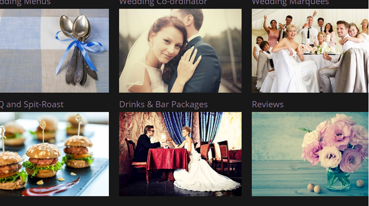 New Responsive Braveheart Wedding Catering Site