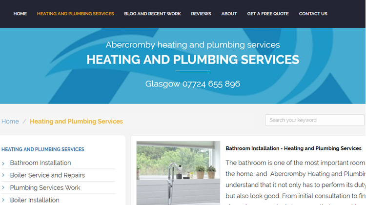 New Umbraco Website Launch for a Glasgow based Plumbing and Heating Company